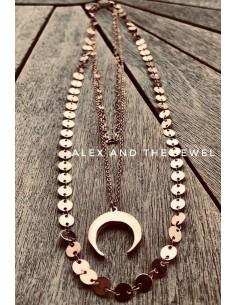 Adele triple necklace